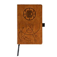 Officially Licensed NBA Engraved Brown Notebook - Los Angeles Clippers