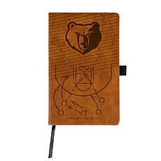 Officially Licensed NBA Engraved Brown Notebook - Memphis Grizzlies