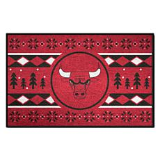 Officially Licensed NBA Holiday Sweater Starter Mat- Chicago Bulls