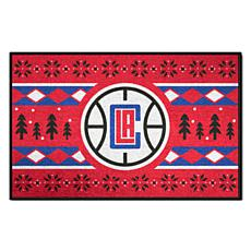 Officially Licensed NBA Holiday Sweater Starter Mat- Clippers