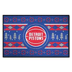Officially Licensed NBA Holiday Sweater Starter Mat- Detroit Pistons