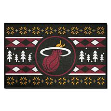 Officially Licensed NBA Holiday Sweater Starter Mat- Miami Heat