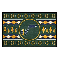 Officially Licensed NBA Holiday Sweater Starter Mat- Utah Jazz