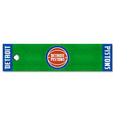 Officially Licensed NBA Putting Green Mat  - Detroit Pistons