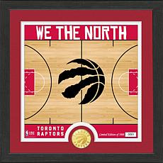 Officially Licensed NBA Raptors  Battle Cry Bronze Coin Photo Mint