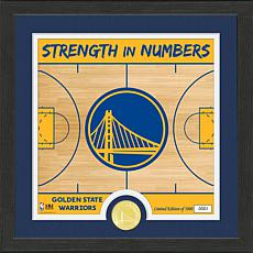 Officially Licensed NBA Warriors Battle Cry Bronze Coin Photo Mint