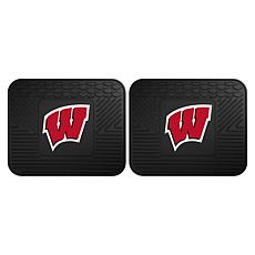 Officially Licensed NCAA  2pc Heavy Duty Vinyl Mat Set - Wisconsin