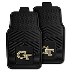 Officially Licensed NCAA 2pc Vinyl Car Mat Set - Georgia Tech