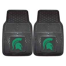 Officially Licensed NCAA 2pc Vinyl Car Mat Set - Michigan State