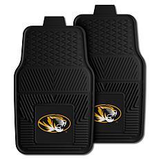 Officially Licensed NCAA  2pc Vinyl Car Mat Set - Un. of Missouri