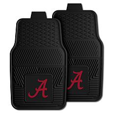 Officially Licensed NCAA 2pc Vinyl Car Mat Set- University of Alabama