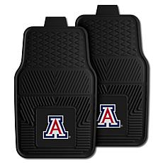 Officially Licensed NCAA 2pc Vinyl Car Mat Set- University of Arizona