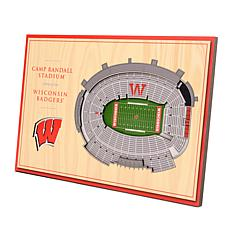 Officially-Licensed NCAA 3-D StadiumViews Display - Wisconsin Badgers