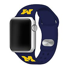 Officially Licensed NCAA 38/40mm Silicone Apple Watch Band - Michigan