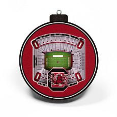 Officially Licensed NCAA 3D StadiumView Ornament 2-pack-South Carolina