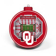 Officially Licensed NCAA 3D StadiumView Ornament 2-pack - Oklahoma