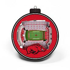Officially Licensed NCAA 3D StadiumView Ornament 2-pack - Arkansas