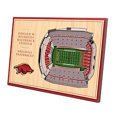 Officially-Licensed NCAA 3D StadiumViews Display - Arkansas Razorba...
