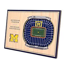 Officially-Licensed NCAA 3D StadiumViews Display - Michigan Wolveri...