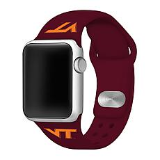 Officially Licensed NCAA 42/44mm MAR Silicone Apple Watch Band -Hokies
