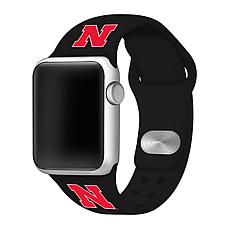 Officially Licensed NCAA 42/44mm Silicone Apple Watch Band - Nebraska
