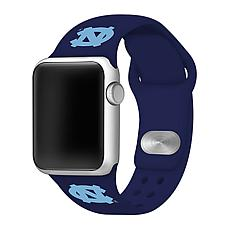 Officially Licensed NCAA 42/44mm Silicone Apple Watch Band - Tar Heels