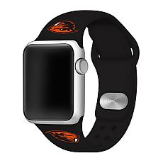 Officially Licensed NCAA 42/44mm Silicone Apple Watch Band-OSU Beavers