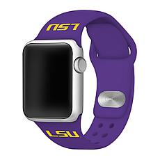 Officially Licensed NCAA 42mm/44mm Apple Watch Band - LSU Tigers