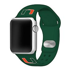 Officially Licensed NCAA 42mm/44mm Silicone Apple Watch Band - Miami