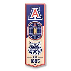 "Officially Licensed NCAA 6 x 19"" 3-D Stadium Banner - Arizona Wildcats"