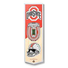 "Officially Licensed NCAA 6"" x 19"" 3D Stadium Banner - Buckeyes"