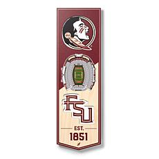 "Officially Licensed NCAA 6"" x 19"" 3D Stadium Banner - Seminoles"
