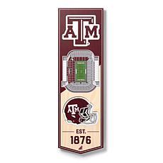 "Officially Licensed NCAA 6"" x 19"" 3D Stadium Banner - Texas A&M Aggies"