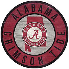 "Officially Licensed NCAA Alabama 12"" Wood Circle"