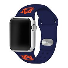 Officially Licensed NCAA Apple Watch Band- Auburn Tigers(38/40mm Navy)