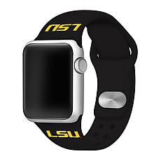 Officially Licensed NCAA Black 38/40MM Apple Watch Band - LSU Tigers