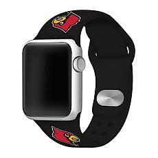 Officially Licensed NCAA Black 42/44MM Apple Watch Band - Louisville