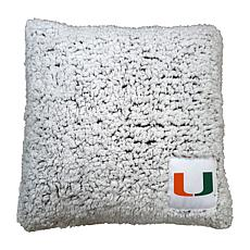 Officially Licensed NCAA by Logo Chair Frosty Throw Pillow - Miami