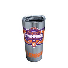 Officially licensed NCAA Clemson 2018 Champions 20 oz. Tumbler w/lid