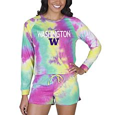 Officially Licensed NCAA Concepts Sport Ladies Top/Short Set Wash.