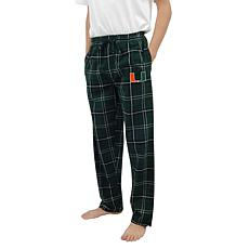 Officially Licensed NCAA Concepts Sport Men's Flannel Pant - Miami