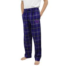 Officially Licensed NCAA Concepts Sport Men's Flannel Pant-Washington