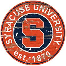 Officially Licensed NCAA  Distressed Round Sign - Syracuse