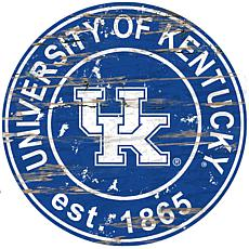 Officially Licensed NCAA  Distressed Round Sign - Un. of Kentucky