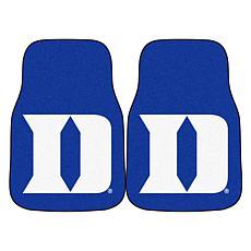 Officially Licensed NCAA Duke University Carpet Car Mat 2-Piece Set