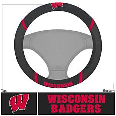 Officially Licensed NCAA Embroidered Steering Wheel Cover - Wisconsin