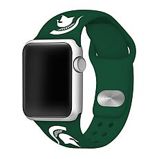 Officially Licensed NCAA Green 42/44MM Apple Watch Band - MI State