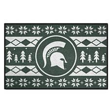 Officially Licensed NCAA Holiday Sweater Mat - Michigan State