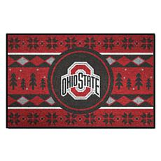 Officially Licensed NCAA Holiday Sweater Mat - Ohio State University