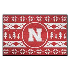 Officially Licensed NCAA Holiday Sweater Mat - University of Nebraska
